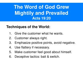 The Word of God Grew  Mightily and Prevailed Acts 19:20