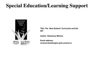 Special Education/Learning Support