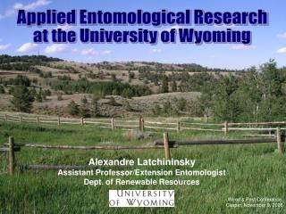 Applied Entomological Research