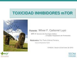 TOXICIDAD INHIBIDORES mTOR