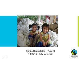 Textile Roundtable  – KAURI 14/06/13 – Lily Deforce