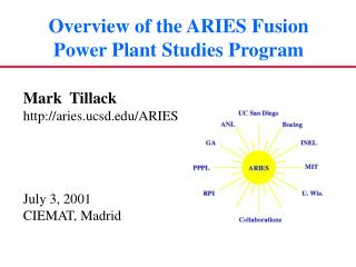 Overview of the ARIES Fusion Power Plant Studies Program