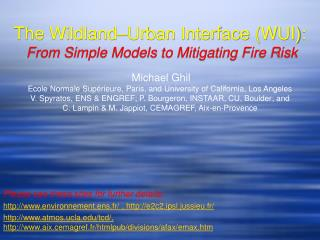 The Wildland–Urban Interface (WUI):   From Simple Models to Mitigating Fire Risk