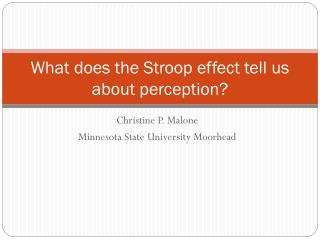 What does the Stroop effect tell us about perception?