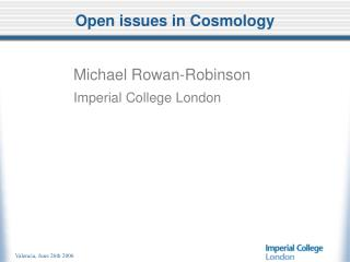 Open issues in Cosmology