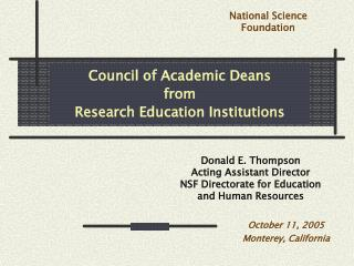 Council of Academic Deans from Research Education Institutions