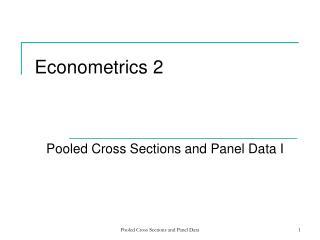 Econometrics 2