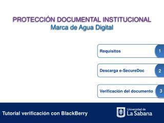 Tutorial verificación con BlackBerry