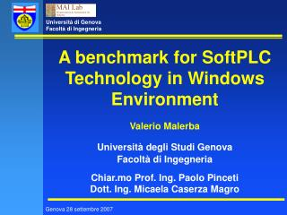 A benchmark for SoftPLC Technology in Windows Environment