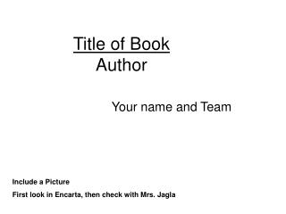 Title of Book Author