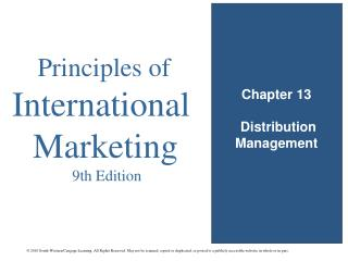 Chapter 13  Distribution Management