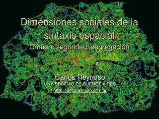 Dimensiones sociales de la sintaxis espacial Crimen, seguridad, segregación