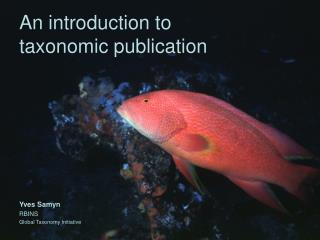 An introduction to  taxonomic publication