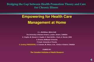 Bridging the Gap between Health Promotion Theory and Care for Chronic Illness
