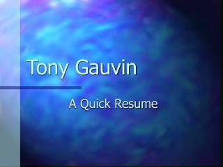 Tony Gauvin