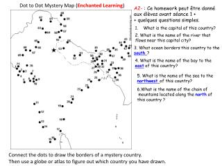 Dot to Dot Mystery Map ( Enchanted Learning )