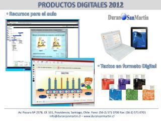 Av. Pocuro Nª 2378, Of. 101, Providencia, Santiago, Chile. Fono: (56-2) 571 0700 Fax: (56-2) 571 0701 info@duransanmart