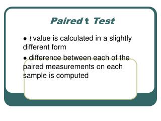 Paired  t  Test