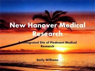 New Hanover Medical Research