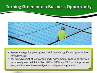 Turning Green into a Business Opportunity
