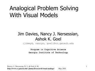 Analogical Problem Solving With Visual Models