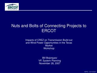 Nuts and Bolts of Connecting Projects to ERCOT