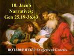 10. Jacob Narratives: Gen 25.19-36.43
