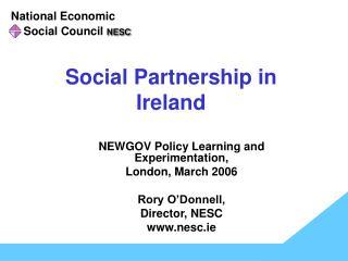Social Partnership in  Ireland