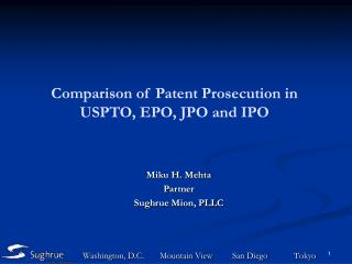 Comparison of Patent Prosecution in USPTO, EPO, JPO and IPO