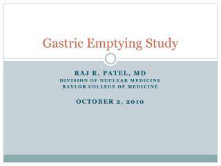Gastric Emptying Study
