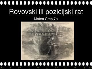 Rovovski ili pozicijski rat