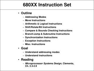 680XX Instruction Set