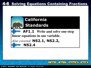 3-2 Solving Equations by  Adding or Subtracting