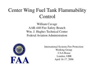 Center Wing Fuel Tank Flammability Control