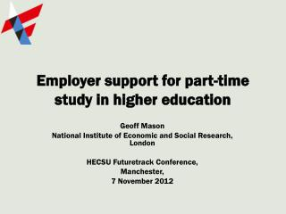 Employer support for part-time study in higher education