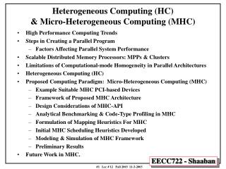 Heterogeneous Computing (HC) & Micro-Heterogeneous Computing (MHC)