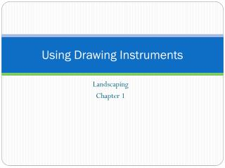 Using Drawing Instruments