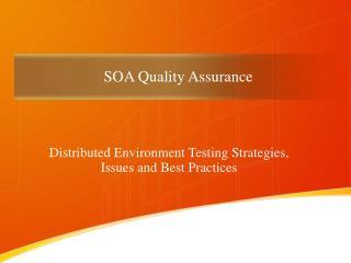 SOA Quality Assurance