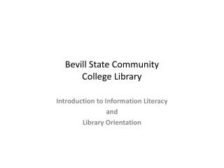 Bevill State Community  College Library