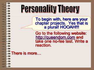 Personality Theory