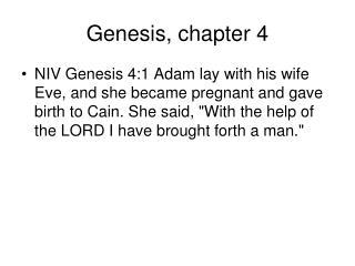 Genesis, chapter 4