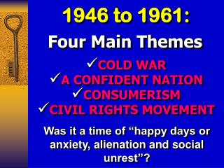 1946 to 1961: