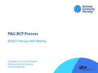 P&G BCP Process