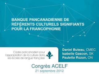 Congrès ACELF 21 septembre 2012