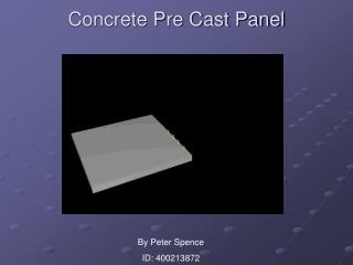 Concrete Pre Cast Panel