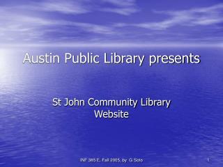 Austin Public Library presents