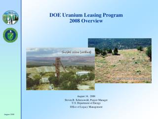DOE Uranium Leasing Program 2008 Overview