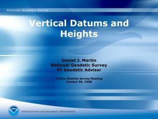 Vertical Datums and Heights