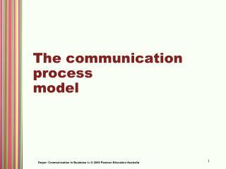 The communication process model