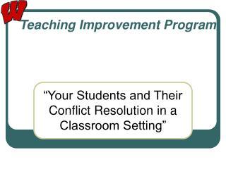Teaching Improvement Program